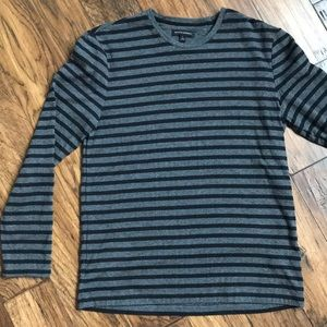 BR double knit LS striped tee